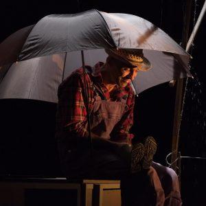 Le jardinier - Il pleut
